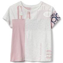 GapKids Logo Remix T-Shirt – pink remix
