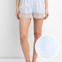 Dreamwell Shorts with Lace Detail – NARROW STRP BLUE