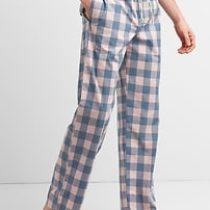 Pajama Pants in Poplin – pink plaid